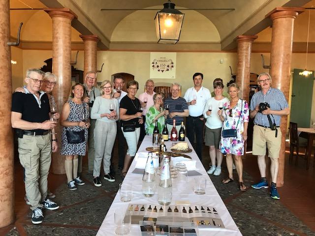 Lambrusco hos Vini Chiarli