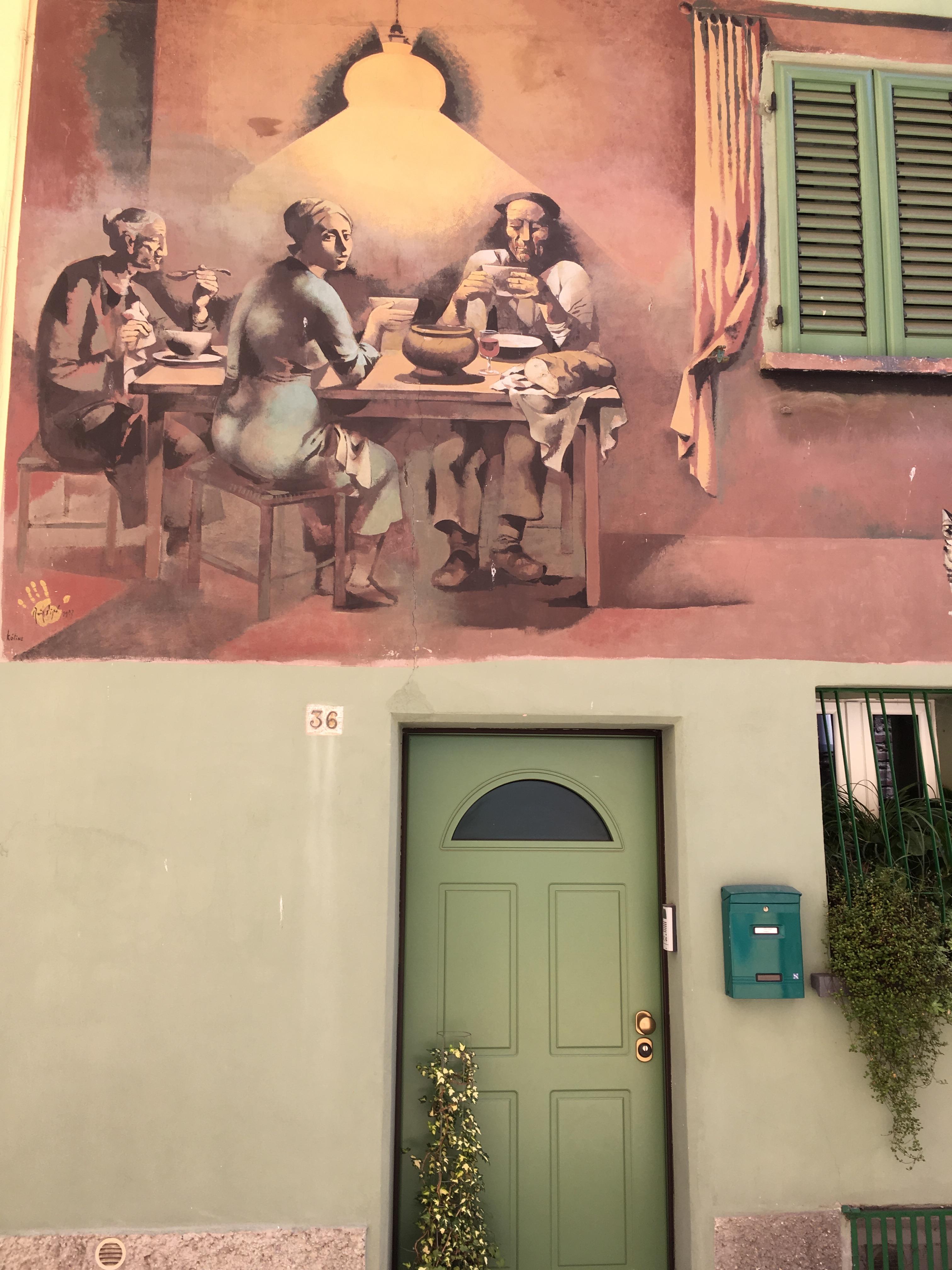Muralmålning i Dozza
