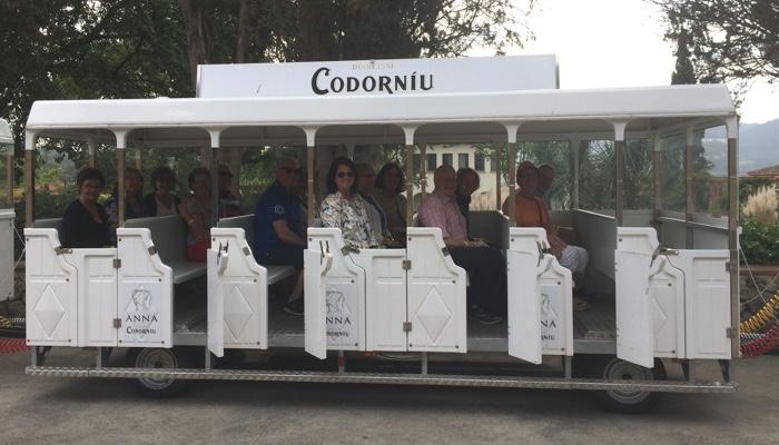 Tågtur hos Codorniú