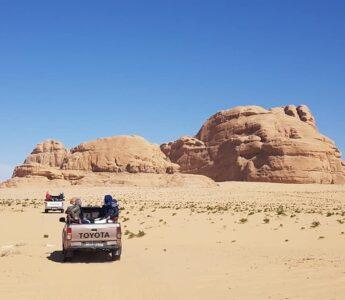 Jeeptur i Wadi Rum